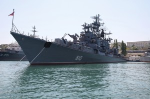 Russian naval vessel in Sevastopol. May 2009. Credit: Pavel Parmenov.